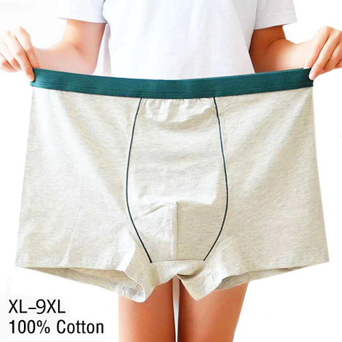 4pcs/9XL Plus Size Cotton Underware Male Boxer