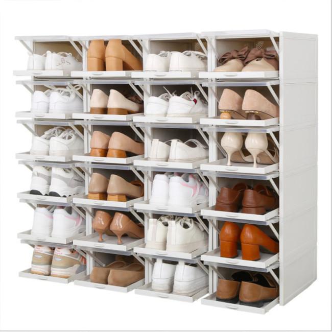 超耐重自動掀蓋組合式鞋盒