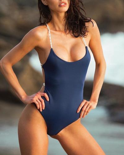 Sexy Cross Halter One Piece Swimwear