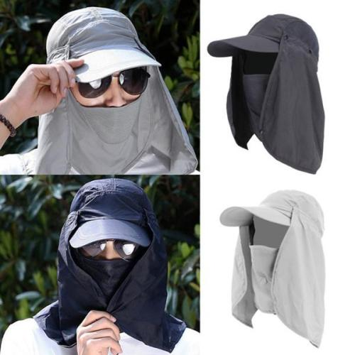 Neck Cover Sun Fishing Hat Ear Flap Bucket Outdoor UV Protection Cap