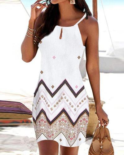 Summer Sleeveless Beach Midi Dress