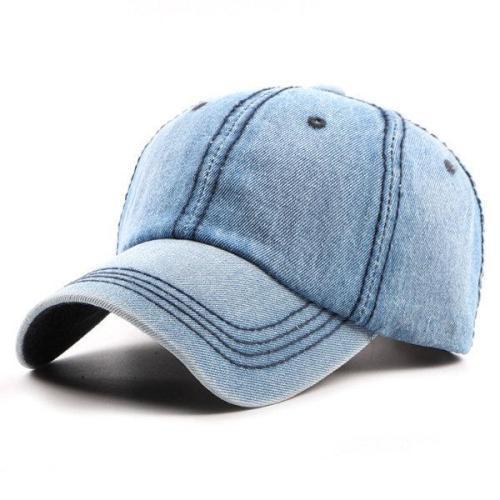 Retro Cotton Denim Baseball Cap Travel Sunshade Snapback Hat