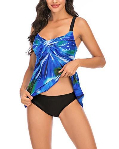 Tie Dye Print Classic Beach Tankini
