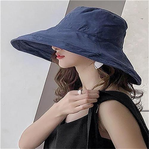 Solid Polyester Elegant Beach Hat