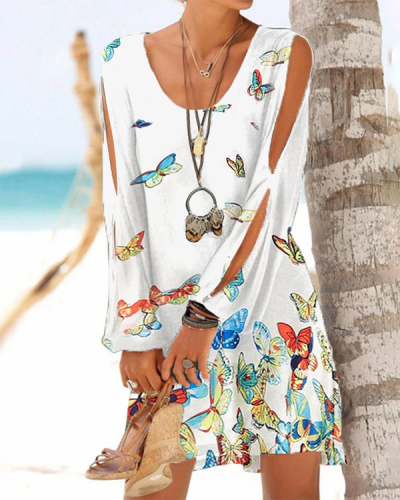 Animal Print High Neck Cute Plus Size Casual Cover-ups Swimsuits
