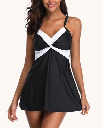 High Waist Tankini Swimdress