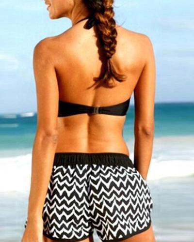 Plus Size Bikini Sets With Surfing Shorts Swimwear