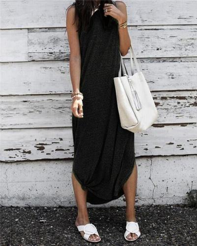 Plus Size Sleeveless Holiday Dresses Shift Daytime Maxi Dresses