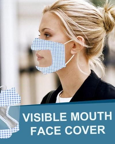 Breathable Face Mask With Clear Window Visible Expression