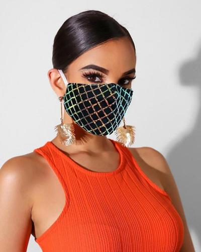 Lace Sequins Sunscreen Face Mask