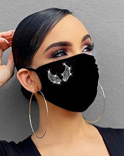 Studded Bling Rhinestone Face Mask
