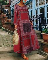 Floral Printed  Holiday Dresses Shift Daytime Maxi Dresses