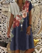 Women's Shift Dress Knee Length Floral Print Dress