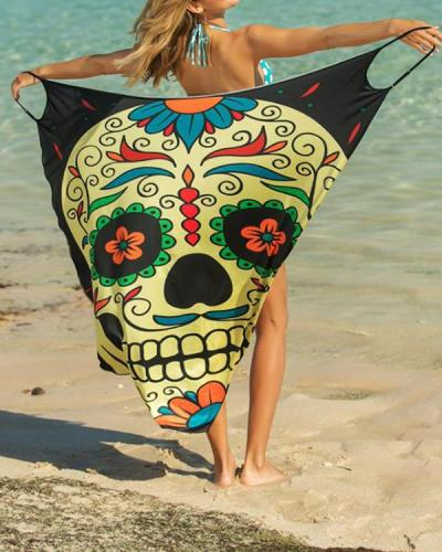 Beach Sling Print Swimwear Cover Ups