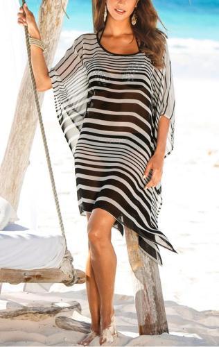 Chiffon Stripe Cover Up