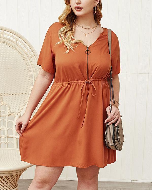 Summer Sexy Elastic Waist A-line Dress