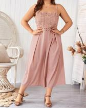 Plus Size Spaghetti Belt Jumpsuit