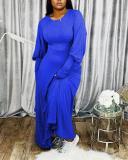 Fashion Loose Solid Color Maxi Dress