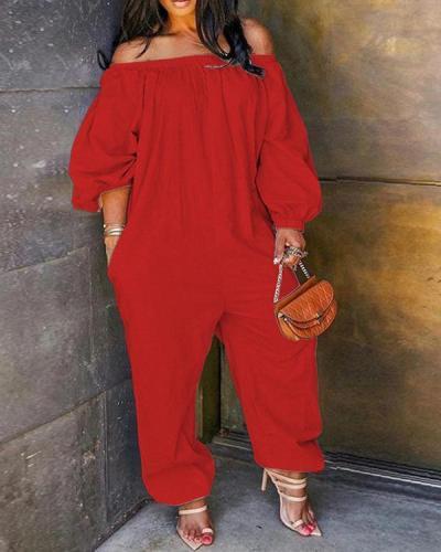 Leisure Loose Plus Size One-piece Jumpsuit