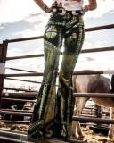 Multicolor Boho Flares Pants