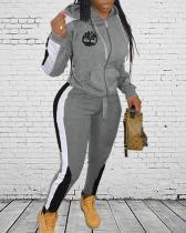 Logo Colorblock Hoodie & Pants Set