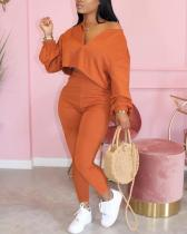 Casual Two-piece Long-sleeved Trouser Suit