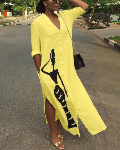 African Beauty Shirt Dress