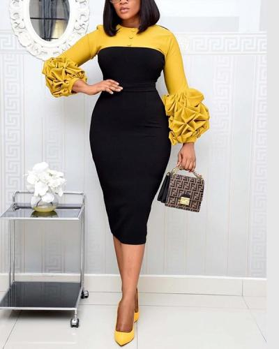 African Bodycon Dress Plus Size Ladies Office Wear Elegant Bandage Dress
