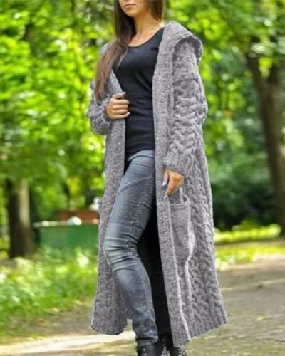 Women Fall & Winter Knitted Casual Outerwear