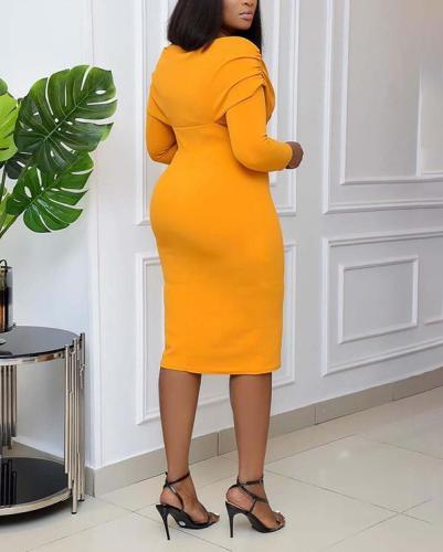 Sexy Tight Dress Off Shoulder V-neck Office dress