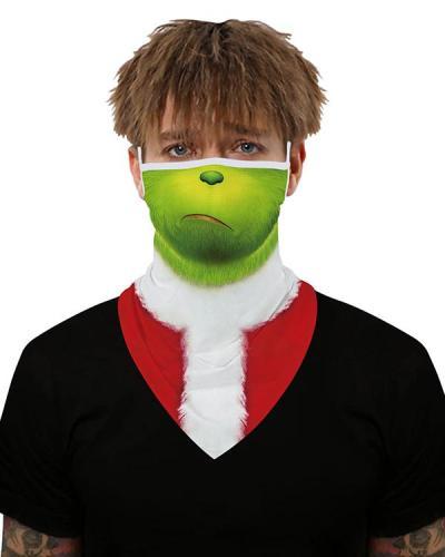 Christmas Print Breathable Earmuffs Face Mask