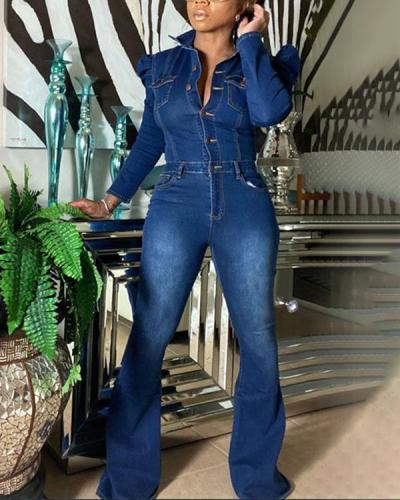 Plus Size Fashion Casual Slim Bodysuit Jumpsuits