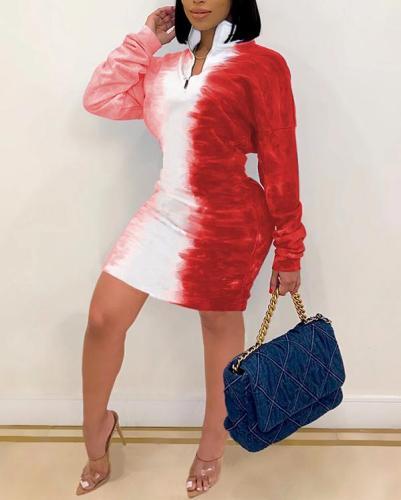 Sexy Gradient Print Dress