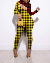 Two-tone Mesh Personality Sexy Print Jumpsuit