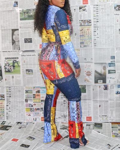 Fashion Sexy Printed Three Piece Suits