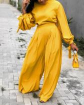 Loose Lantern Sleeve Two-piece Suit