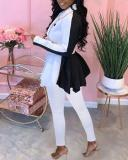 Pure Color Thick Hip Skirt Jacket Pants Casual Suit