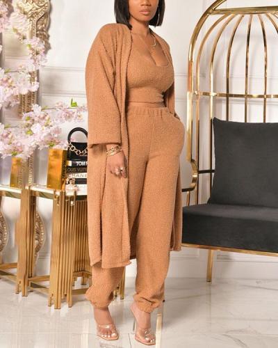 Plush Loose Three-piece Suit