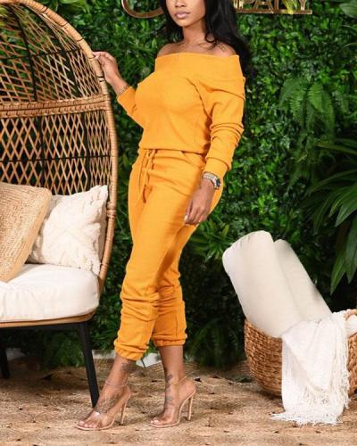 Off Shoulder Bandage Jumpsuit