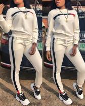Fashion Casual Stitching Sports Suit