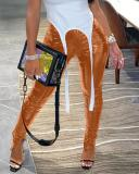 Slit Bright Leather Pants
