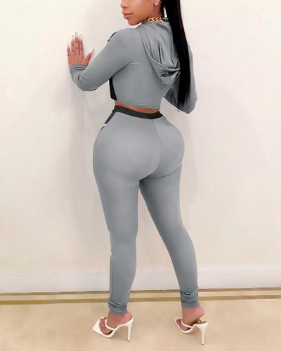 Yoga Suits Contrast Color Tight Two-piece Sports Suit