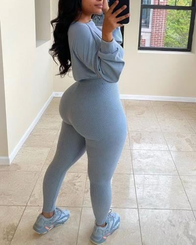 Ribbed Sports Casual Suit