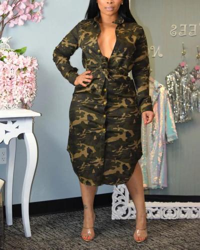 Fashion Casual Camouflage Dress