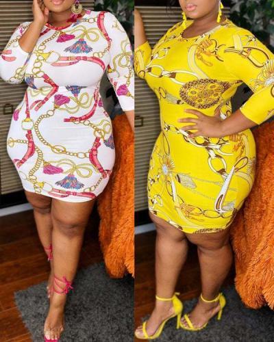 Plus Size Bodycon Mini Dress