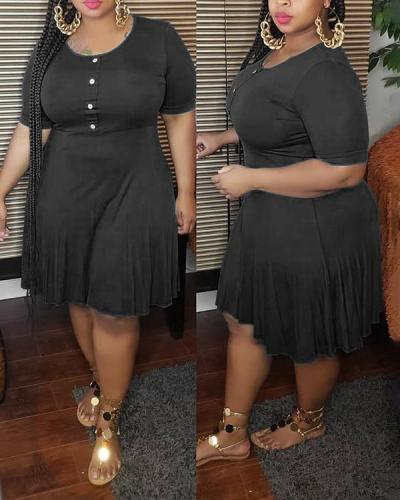 Oversized Loose Solid Color Dress