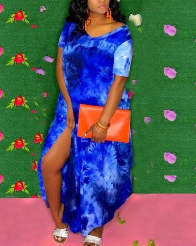 Sexy Cute Tie-dye Maxi Dress