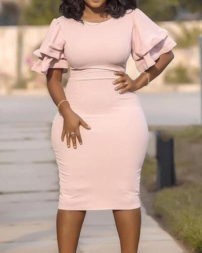 Stitching Slim Plus Size Dress