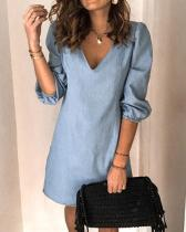 Women Casual Simple Daily Work Pure Color Midi Dress