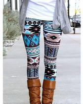 Vintage Print Leggings For Women
